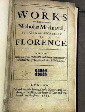 machiavelli writings